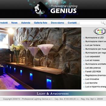 Professional Lighting Genius - Sviluppo sito web