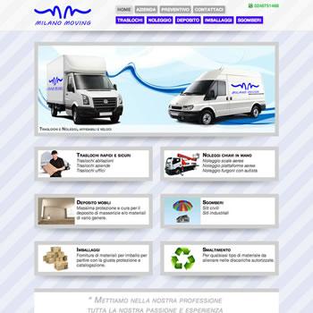 Milano Moving - Sviluppo sito web