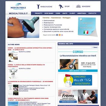 Società nel settore elettromedicale per fisioterapia, sport e benessere - Sviluppo sito web v.1