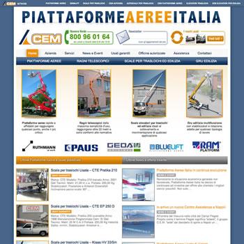 Piattaforme Aeree Italia - Sviluppo sito web