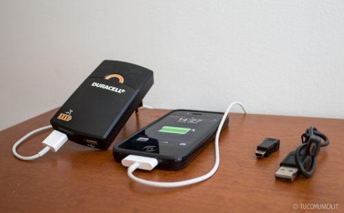 Duracell (5 Ore) caricabatteria USB portatile per non rimanere mai a secco