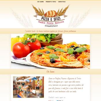 Pizza e Sfizi - Sviluppo sito web
