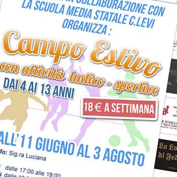 ASEM Bari - Attività campo estivo - Flyer