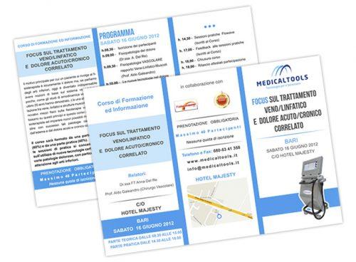 Società nel settore elettromedicale per fisioterapia, sport e benessere - Focus trattamento - Brochure