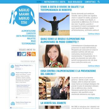 Meglio Mangi Meglio Stai - Sviluppo Blog e Landing page