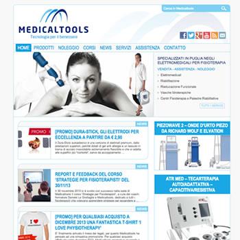 Società nel settore elettromedicale per fisioterapia, sport e benessere - Sviluppo sito Web v.2