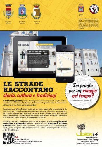 """Intervento formativo progetto """"Le strade raccontano"""" promosso da Bollenti Spiriti - Puglia"""