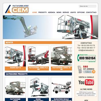 CEM Piattaforme Aeree - Sviluppo sito web