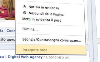 Facebook abilita l'opzione per incorporare i post nei siti web