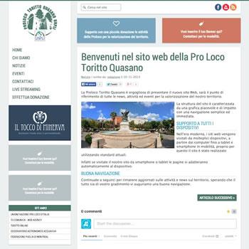 Organizzazione Pro Loco della provincia di Bari – Sviluppo sito web