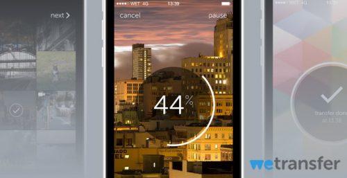 WeTranser per iOS - inviare file pesanti via mail direttamente da iPhone