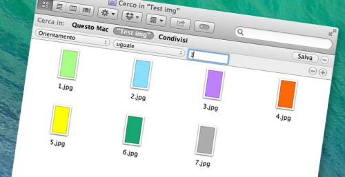 Ricercare immagini per orientamento verticale e orizzontale dal Finder di Mac OS X