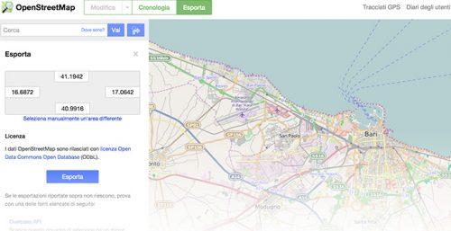 Scaricare e convertire mappe vettoriali gratuite da OpenStreetMap