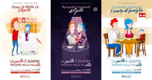 Pastificio Pugliese - Campagna ADV Grafica per fiera Tutto Food - Dove c'è Pasta c'è Amore!