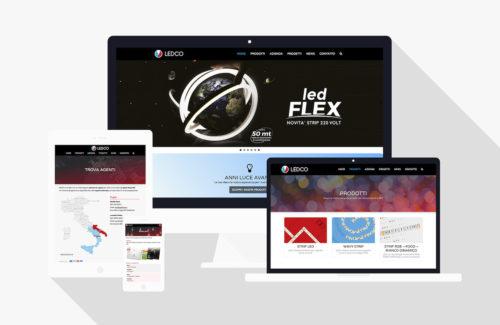 Società produttrice di illuminazione LED - Sviluppo sito web